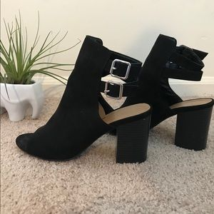 Black Bamboo Heels